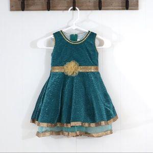 Vintage girls 4T - 5T formal layered shimmer dress